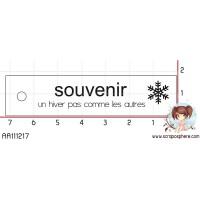 TAMPON ETIQUETTE SOUVENIR D HIVER par Soph10