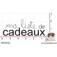 TAMPON LISTE DE CADEAUX par Soph10