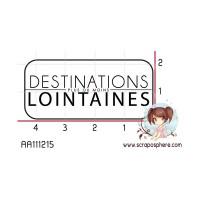 TAMPON ETIQUETTE DESTINATIONS LOINTAINES par Mauxane