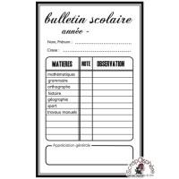 TAMPON BULLETIN SCOLAIRE par Soph10