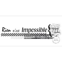 TAMPON RIEN N EST IMPOSSIBLE par Scrap touflette