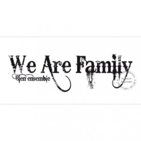 TAMPON WE ARE FAMILY BIEN ENSEMBLE par Sirius